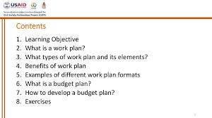 Work Plan Formats Session Viii Work Plan And Budget Plan Ppt Download