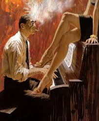 robert mcginnis is there anything more y than a pair of beautiful legs up on a piano makes me want to take piano lessons the piano player obviously