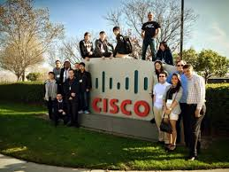 A The NetRiders Winners Took One Last Picture On The Cisco San Jose Campus  Before Heading Home