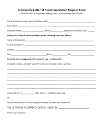 Request Letter Recommendation Template Of Scholarship Sample For