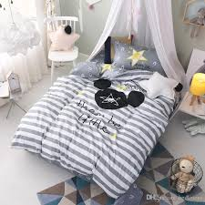 white gray striped animal bedding comforter quilt set duvet covers bed sheets pillow shams 100 cotton teen children twin size bedroom stars cotton duvet
