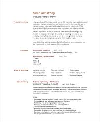 Graduate Financial Analyst Resume Template