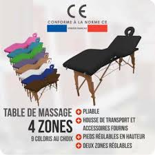 table de massage 4 zones