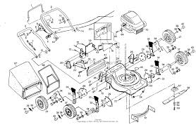 Poulan pp835ska mower parts diagram for mower assembly engine b s
