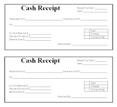 Cash Received Receipt Cash Received Template Cash Payment