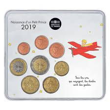 uncirculated coins birth mini set the little prince by plane baby shower