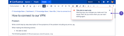 Using Read Only Mode For Site Maintenance Atlassian