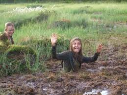 Fetish girl in mud