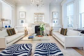 navy gold living room living room transitional with zebra ottoman bulb included