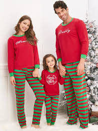 Striped Printed Matching Family Christmas Pajama Sets - RED DAD 2XL 22% OFF] 2018