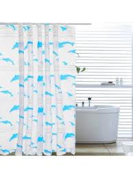 quality life modern minimalist home dolphin pattern family bathroom ball type waterproof mildew thick peva shower