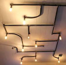 pipe ceiling light lighting home depot fans with lights black iron