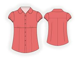 Blouse Sewing Pattern Amazing Blouse Sewing Pattern 48 Madetomeasure Sewing Pattern From
