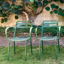 t2 garden chairs from tolix 1950s set