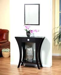 R Hall Table Decor Entry With Mirror  Mirrored Media Cabinet Entryway