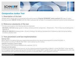 Disc Spring Design Guide Comparative Vibration Test Junker Test Ppt Download