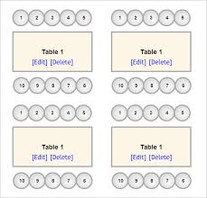 Seating Chart Template 9 Free Word Excel Pdf Format