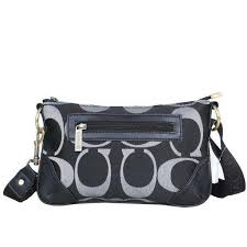 Coach Swingpack Monogram Small Black Crossbody Bags DPO  Love