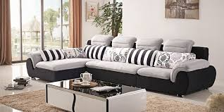 l shape fabric sofa set new design