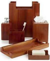 White Wooden Bathroom Accessories Hotel Collection Teak Wood Bath Accessories Only At Macys