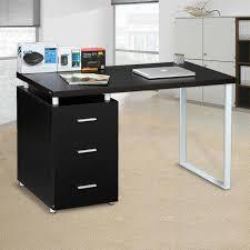 Compact Corner Desk Furniture Modern Computer Desk Home Office Piranha Black Compact