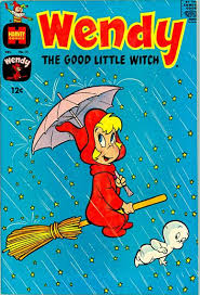 casper the friendly ghost wendy. wendy, the good little witch and casper vintage harvey comic book. i loved saturday morning cartoons! friendly ghost wendy