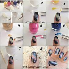 galaxy nail art design diy