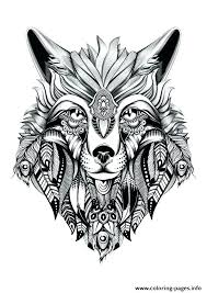 Free Wolf Coloring Pages Wolves For Adults Face Big Bad Ilovezclub