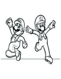 Super Mario E Luigi Da Colorare Mario E Luigi Pagine Da