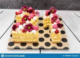 Number 1 Birthday Cake Designs Beautiful Homemade Birthday Cake In The Shape Of The Number
