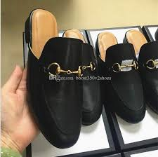 eur38 46 designer luxury men summer princetown slippers mens mules loafers genuine leather flats with buckle bees snake pattern with box womens shoes