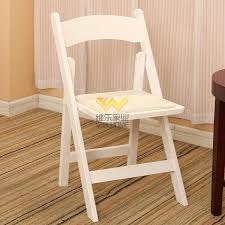 white wooden folding chair for wedding event