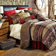 rustic bedding sets canada bedspreads lodge log cabin pertaining to sierra mountains collection quilts king set