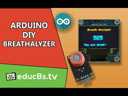 Arduino Breathalyzer Project using <b>MQ3 alcohol sensor</b> 0.96 ...