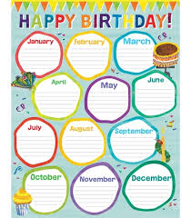 Classroom Decoration Charts For High School World Of Eric Carle Birthday Chart Grade Pk 2