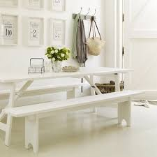 indoor dining table with bench seats. pretty white dining table and benches indoor with bench seats l