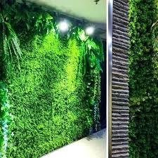 artificial grass wall singapore rice seedling fake hedge vertical garden green mat decor