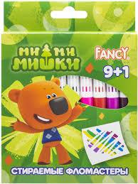 <b>Action</b>! <b>Набор фломастеров</b> Fancy стираемые 9 цветов 10 шт ...