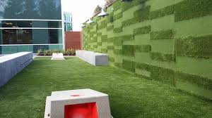 best uses for synthetic grass living walls