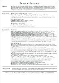 Resume Sample For Teacher Job Resume Ideas Pro