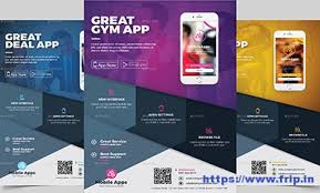 Design Flyer App 60 Best Mobile App Promotion Flyer Print Templates 2019