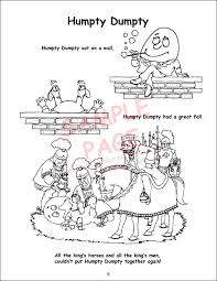 humpty dumpty nursery rhyme coloring page fairy tales nursery rhymes power panel coloring book coloring pages