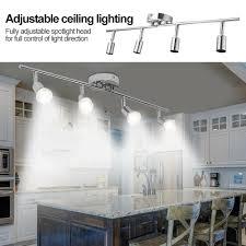Used Lighting Store 5w Led Track Light Led Rail Lamp 4 Heads Adjustable Ceiling Lighting For Store