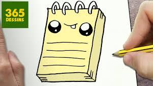 Comment Dessiner Cahier Kawaii Tape Par Tape Dessins Kawaii