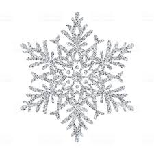 Schneeflocke Silber Glitter Vektor Christbaumschmuck Auf