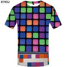 <b>KYKU Brand</b> Rubik'S Cube <b>T shirt</b> Men Square <b>Tshirt</b> Printed Russia ...