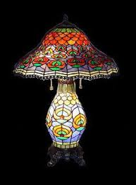tiffany stained glass lamp. Tiffany Style Stained Glass Table Lamp