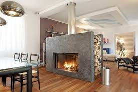 two sided indoor outdoor gas fireplace