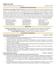 Military To Civilian Resume Examples Resume Templates
