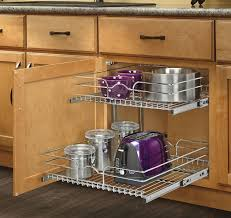 Kitchen Cabinet Rolling Shelves Amazoncom Rev A Shelf 5wb2 1822 Cr 18 X 22 Double Pullout Wire